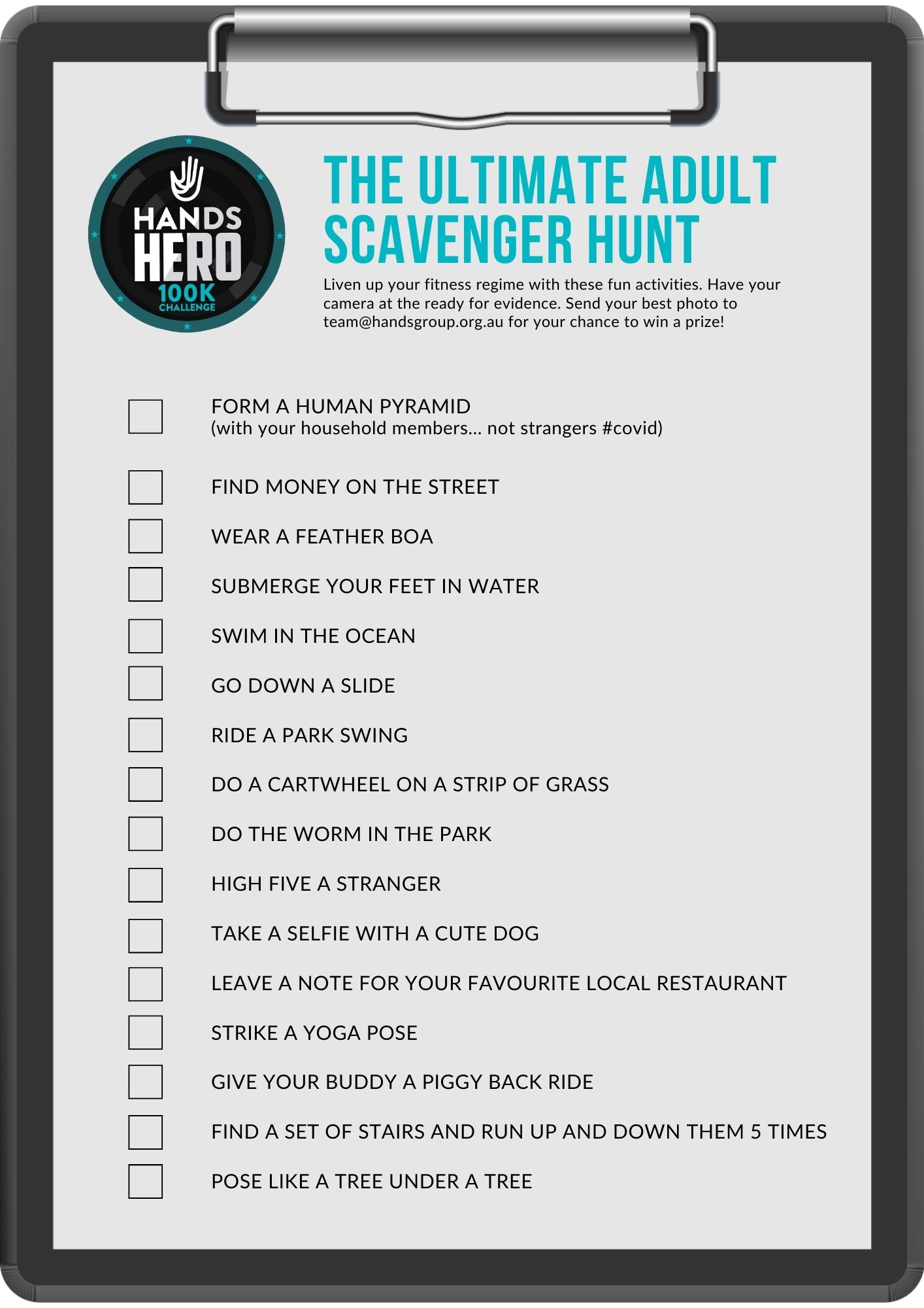 Ultimate Adult Scavenger Hunt