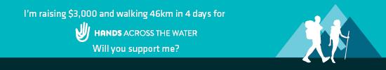 AU Trek Fundraising Email Signature 46km